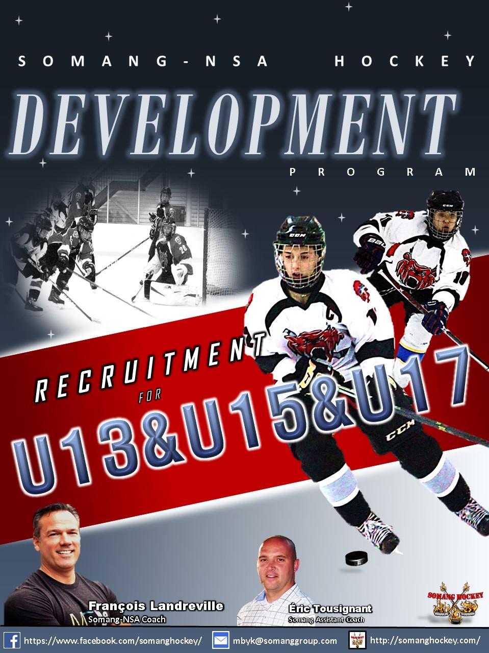 Somang-NSA Development U15&U17 Recruitment Poster